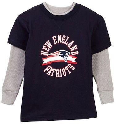 NFL New England Patriots Long Sleeve Tee (Little Boys)