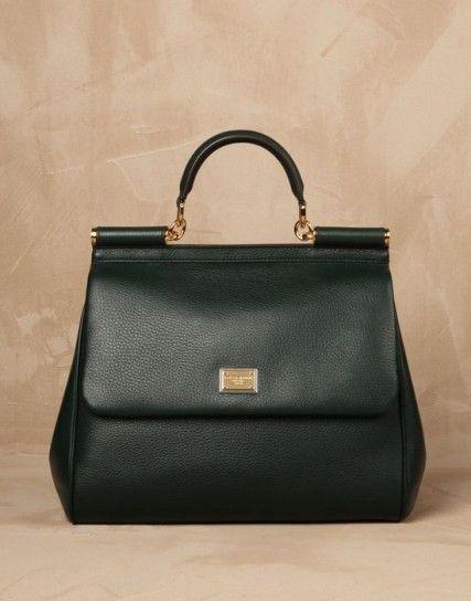 Borsa handbag maxi verde Dolce & Gabbana
