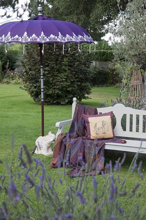 An India Inspired Stay Cation Garden U2014 The Gardenist. Garden ParasolsPatio  UmbrellasShade UmbrellasPurple ...