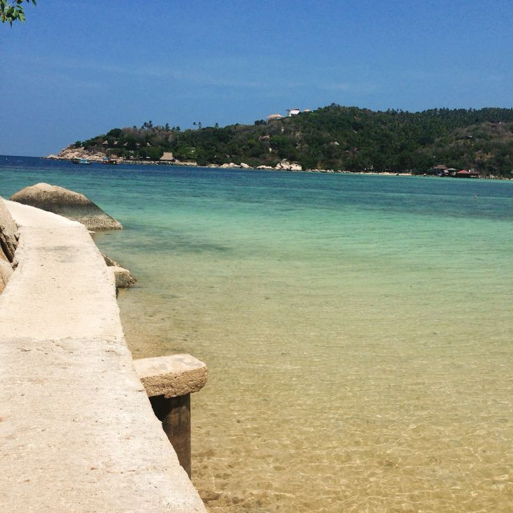 The path round the cliff to #freedombeach on #kohtao