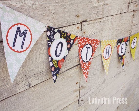 PRINTABLE Mother's Day Banner Happy Mother's Day by LadybirdPress