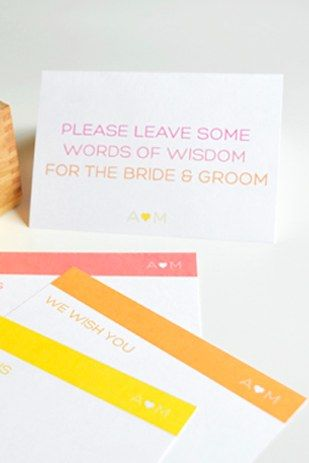 Guestbook Advice Cards   31 Free Wedding Printables Every Bride-To-Be Should Know About