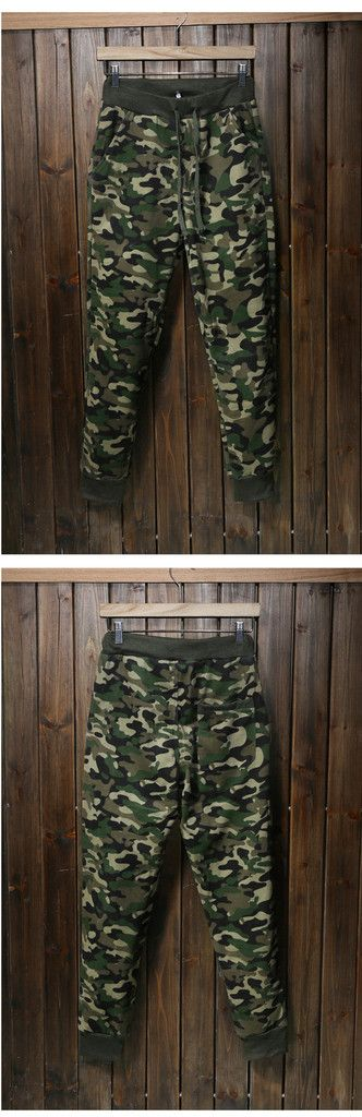 Men Army Green Camouflage Trouser Autumn Sports Pants Trekking Pant Fabric Skinny Pants Trousers Cotton/Polyester