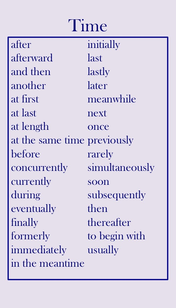 best ideas about transition words list transition words showing time