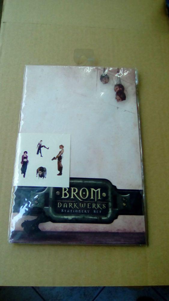 BROM-DARKWERKS-Stationery-Set-Paper-Envelopes-Stickers-New,Unopened!