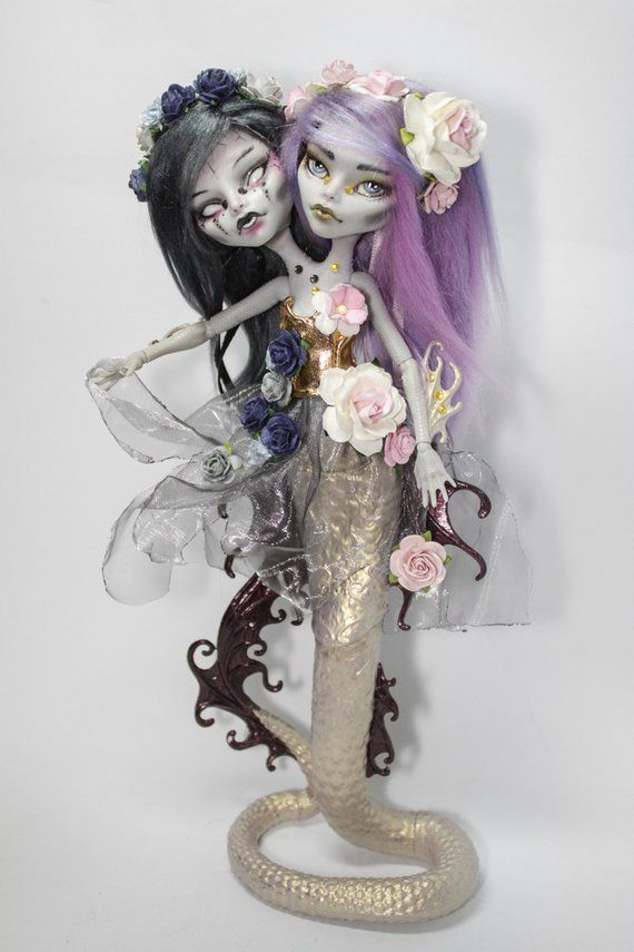 Nymphe Idiny Und Ikaly OOAK Monster High Puppe