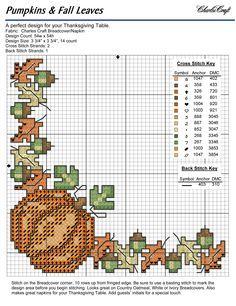 bread cloth cross stitch charts | bread cloth corner 9