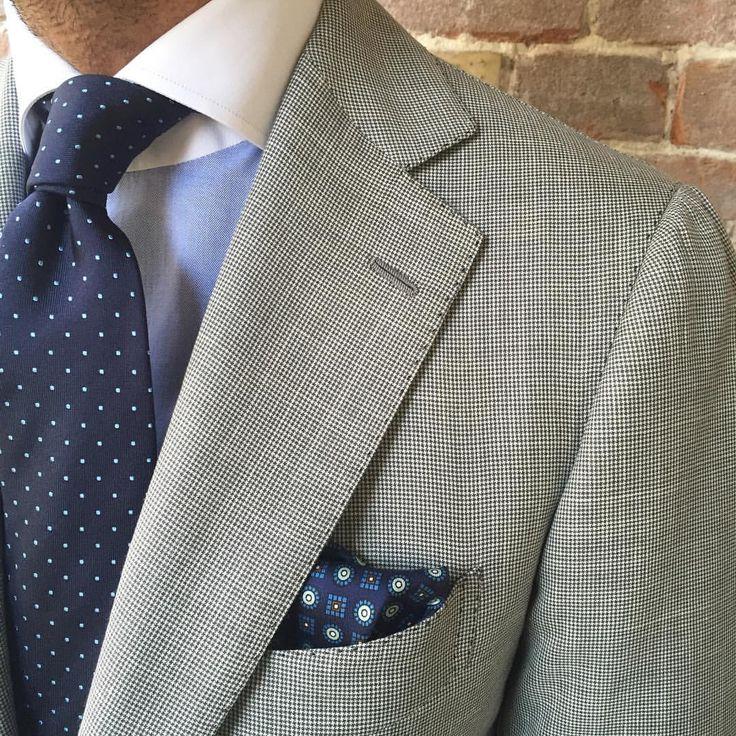 Mens Silk Pocket Square - Mens Sweet Gray by VIDA VIDA yrTXhN47