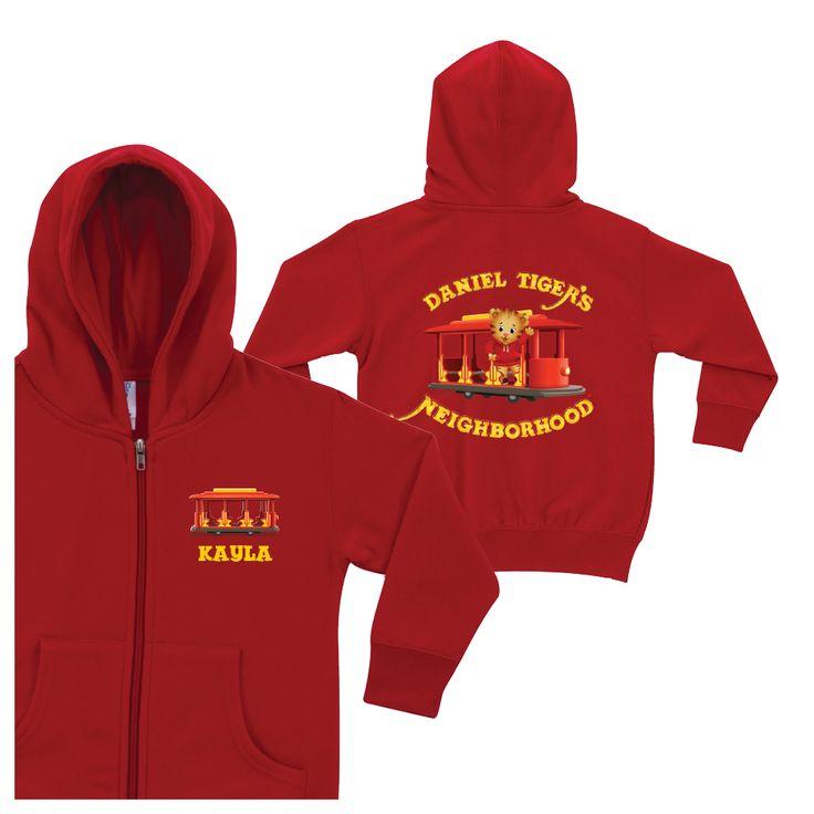 The Official PBS KIDS Shop | Daniel Tiger's Neighborhood Red Zip-Up Hoodie 4t $37.99