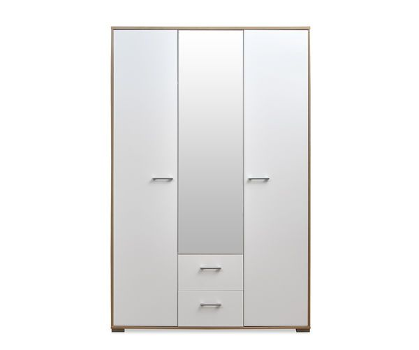 Buy Marilyn High Gloss 3 Door Wardrobe - @home By Nilkamal, Oak and White online - at-home