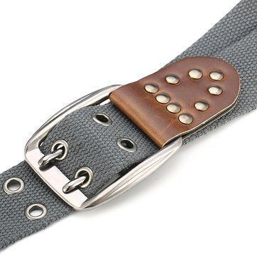 110CM Men Casual Canvas Belt Women Outdoor Wasitband Jeans Belts at Banggood