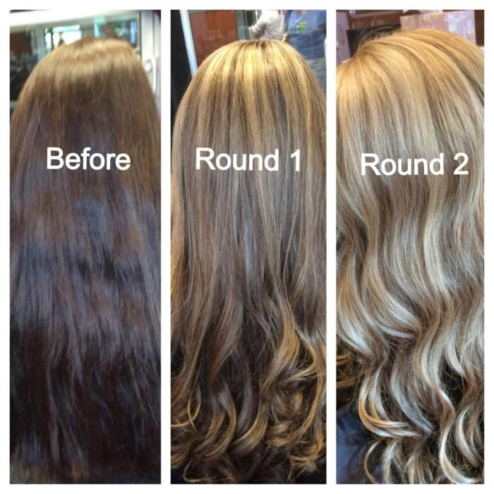 In Order To Go From Brunette To Blonde It Can Take A Few Rounds