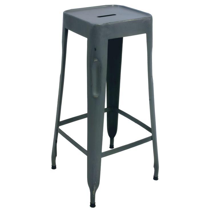 Metalen barkruk blauwgrijs - quip&Co