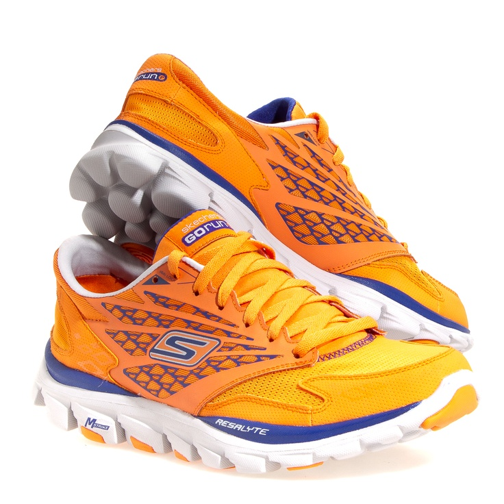 Skechers Shoes Velcro Blue Orange