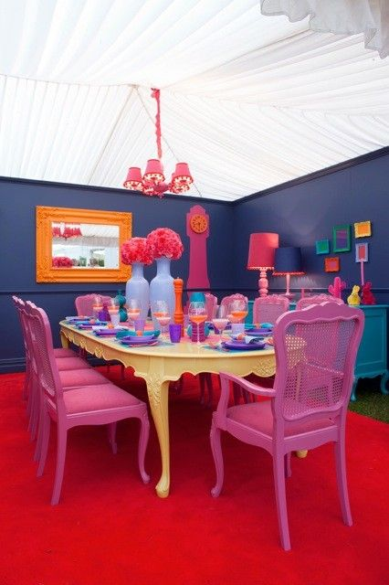 Dine by Design - Peoples choice award winner: Alex Fulton Design 2010.  Also shortlisted for the Dulux colour awards 2011    #bohemian interior