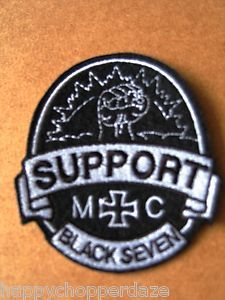 outlaw biker patches | Outlaw-Biker-1-er-GREMIUM-MC-Germany-BLACK-7-Fist-Motorcycle-Club ...