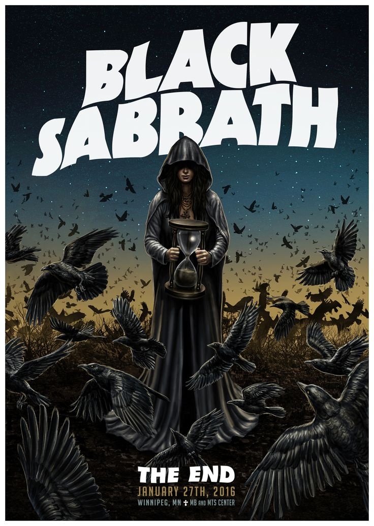 Tour poster for the legendary BLACK SABBATH!