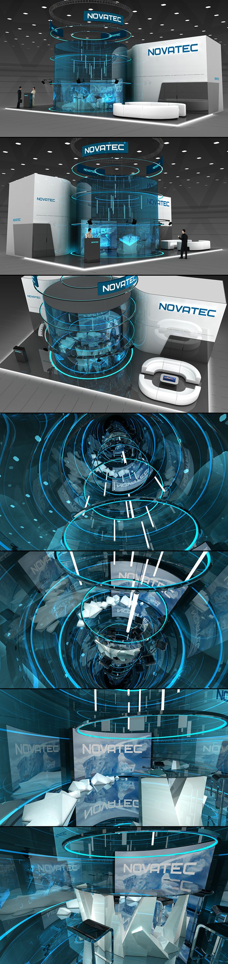 Novatec exhibition stand on Behance