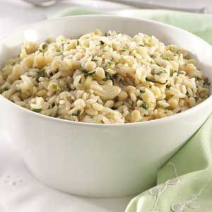I didn't have any quick ideas for sides but I've had orzo in my cabinet for ever and I found this recipe. Super good. I only used Orzo, no long grain rice. Garlic-Herb Orzo Pilaf