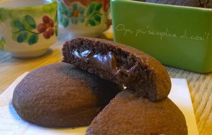 Biscotti al cacao ripieni di Nutella | Oya