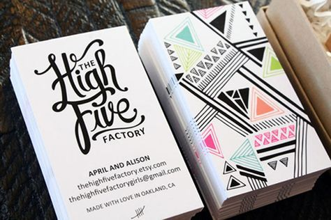 High Five factory business cards