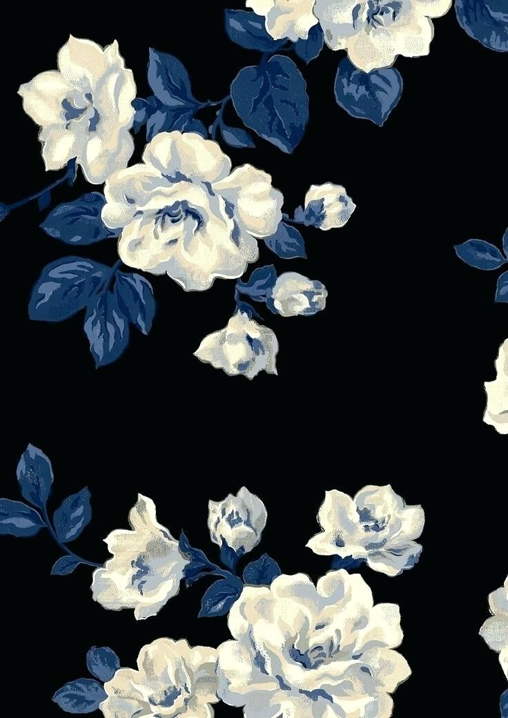 48 White Roses Iphone Wallpaper Choice Galleries Blue Flower Painting Blue Flower Wallpaper Blue Floral Wallpaper