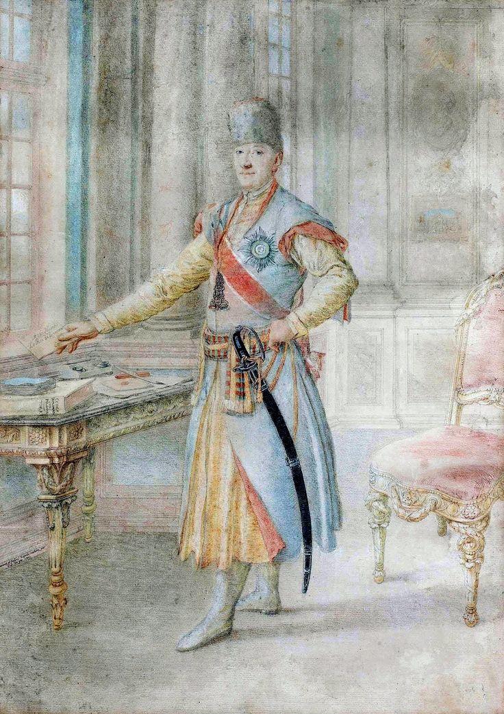 Portrait of Izydor count Ostroróg, Commonwealth's envoy in Denmark by Carl Daniel Voigts, 1780 (PD-art/old),  Muzeum Narodowe w Warszawie (MNW)