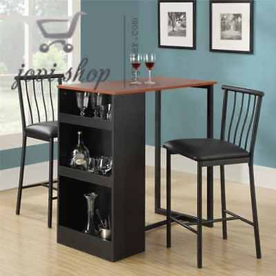 small kitchen table set for 2 3-Piece Counter Height Dining Set with Storage