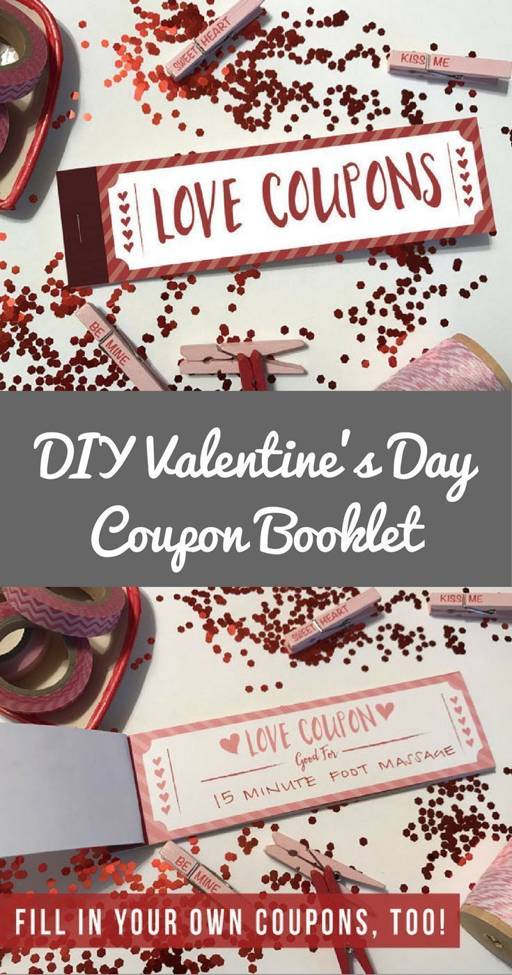 Printable Love Coupon Book Valentine Gift Instant Download Ad