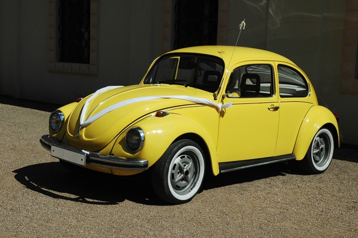 Yello VW Beetle... Classic: Beetles Bugs, Yellow Wedding, Volkswagen Beetles, Mellow Yellow, Beetles 1302, Wedding Yellow, Transportation Ideas, Yellow Beetles Kev, Sunflowers Yellow