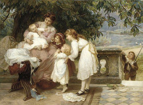 His First Tooth Frederick Morgan (1847 – 1927, English)
