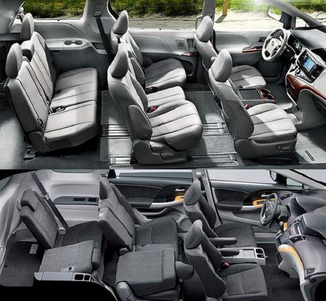 2015 Toyota Sienna interior picture  Minivans  Pinterest