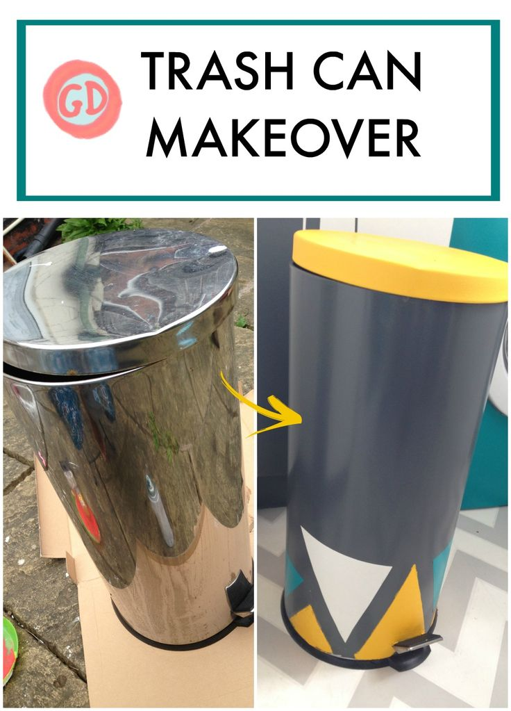 Dont Throw Away Your Old Rubbish Bin/trash Can! Give It A Makeover With