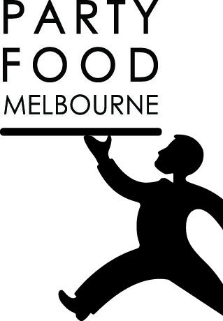 party food melbourne logo with waiter image