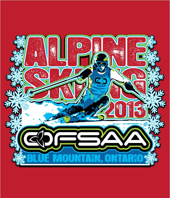 Another logo a la Freddy... for another OFSAA championship...this time Alpine Skiing.