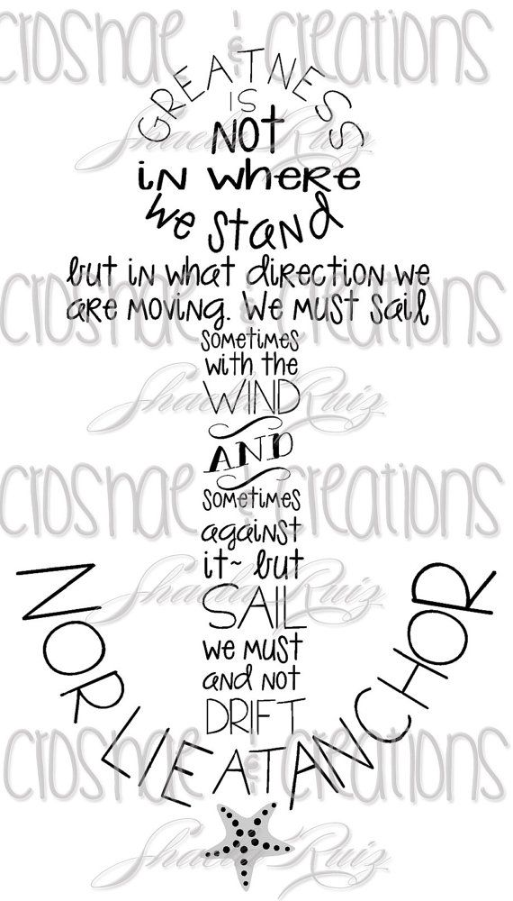 Oliver Wendell Holmes Nor Lie At Anchor Quote Vinyl Decal