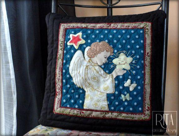 Decorative Christmas patchwork pillowcase