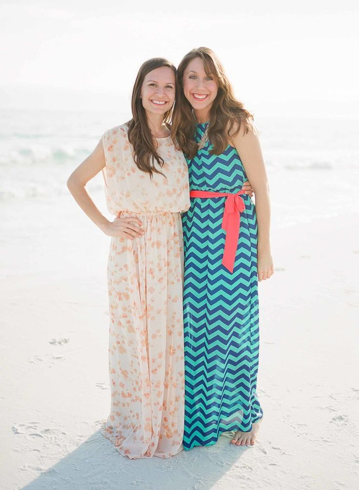 bridal shower guests on the beach