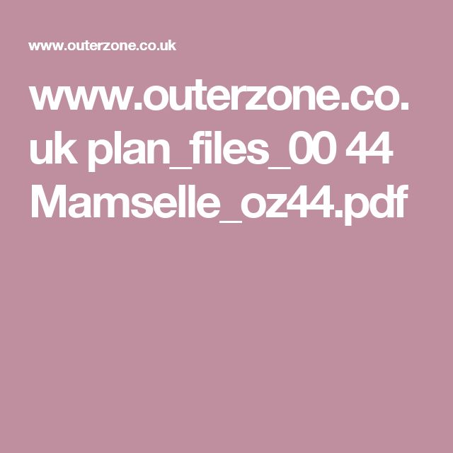 www.outerzone.co.uk plan_files_00 44 Mamselle_oz44.pdf