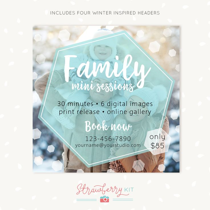1525 best Photography Design Templates images on Pinterest - winter flyer template