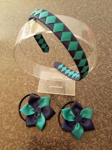 Madelienas Girls School Hair Accessories Set: Headband and  Hair Ties - AU$13.00 a set