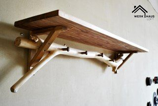 4 different kind of wood #shelve