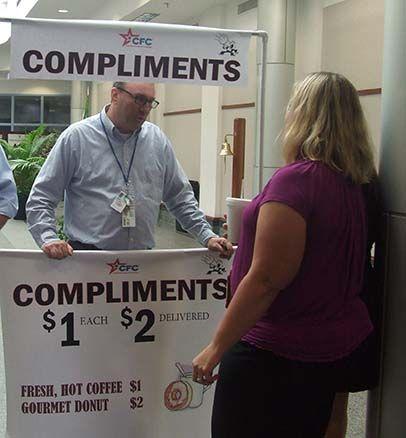 Super Fun Compliment Event Fundraiser: Make Money and Boost Morale!! Love the idea