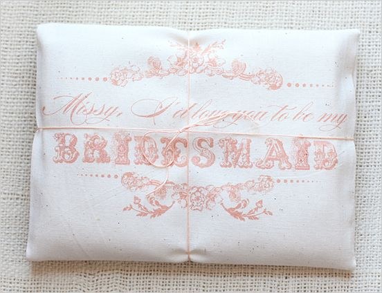 will you be my bridesmaid gift bag with T-shirt inside