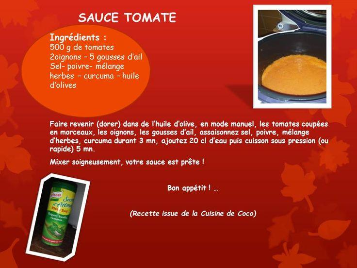 Sauce aux tomates fraiches