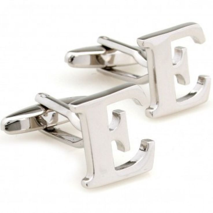 nothing is more personalized than initial cufflinks we carry all letters of the alphabet but these are for a pair of letter e cufflinks
