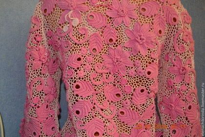 """Пиджаки, жакеты ручной работы. Ярмарка Мастеров - ручная работа жакет """"Розовые мечты"""". Handmade."""
