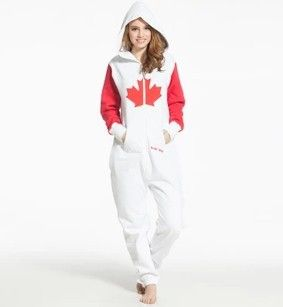 Adult Canada hooded Onesie - I need this!!!