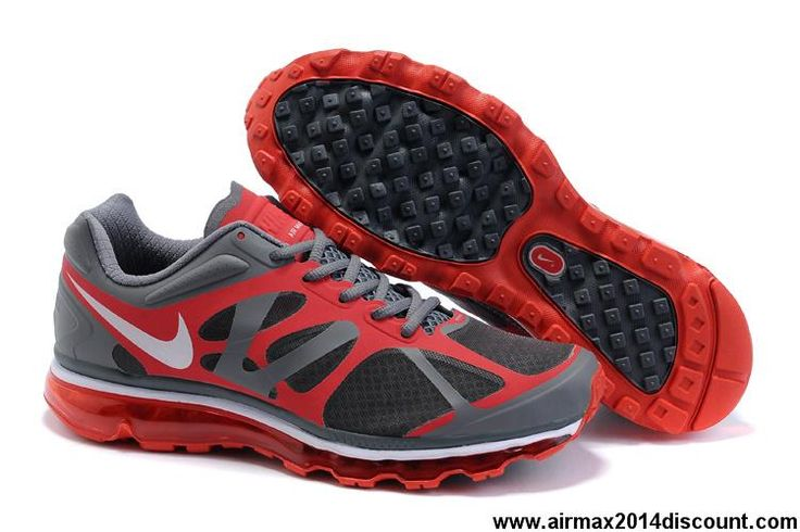 Wholesale Discount Nike Air Max 2012 487982-011 Grey Red White Mens Your  Best Choice