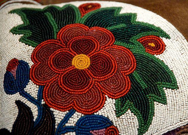 cree saddle beadwork by bhrome, via Flickr; beading, beaded, aboriginal, indigenous; very much like Métis beadwork